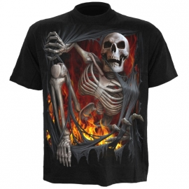 Spiral Direct TR385600 Death Re-Ripped T-Shirt Spiral Direct