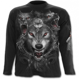 Spiral Direct Wolf Triad T-Shirt Spiral Direct T-Shirt Gothique Manches Longues