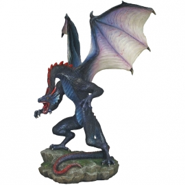 Statuette Dragon Veronese Rearing Blue