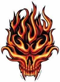 Sticker Flame Skull