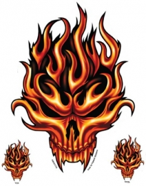 Stickers Flame Skull
