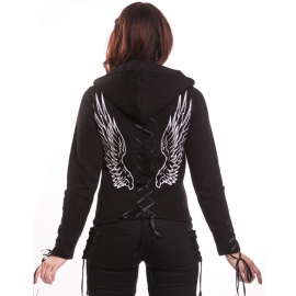 sweat gothique poizen industries angel hood