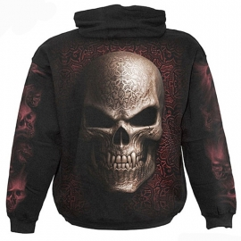 sweat gothique spiral direct goth skull