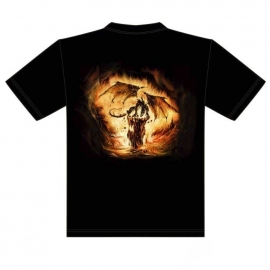 t-shirt gothique dragon de feu