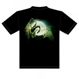 t-shirt gothique dragon lune