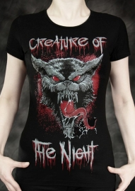 t-shirt gothique Creature of the Night