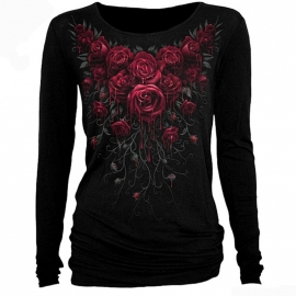 t-shirt gothique spiral direct blood rose