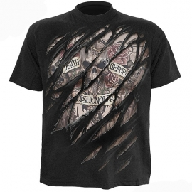 t-shirt gothique spiral direct death before dishonour
