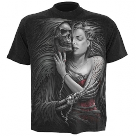 t-shirt gothique spiral direct death embrace