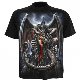 t-shirt gothique spiral direct dragon lava