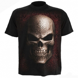 t-shirt gothique spiral direct goth skull