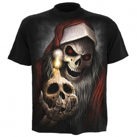 t-shirt gothique spiral direct the anti santa