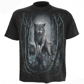 t-shirt gothique spiral direct wolf nights