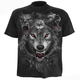 t-shirt gothique spiral direct wolf triad