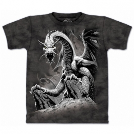 t-shirt gothique the mountain black dragon