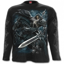 Spiral Direct Grim Rider T-Shirt Spiral Direct T-Shirt Gothique Manches Longues Spiral Direct L027M301