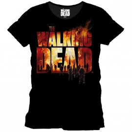 T-Shirt The Walking Dead Burning Logo