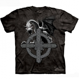 The Mountain tshirt gothique celtic cross dragon