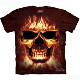 The Mountain tshirt gothique skulfire