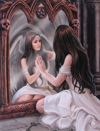 toile sur chassis gothique anne stokes Magic Mirror