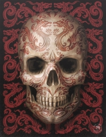 toile sur chassis gothique anne stokes Oriental skull