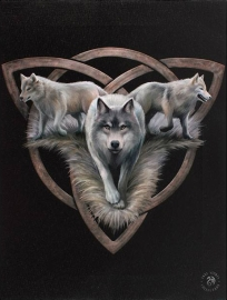 toile sur chassis gothique Anne Stokes Wolf Trio