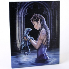 toile sur chassis gothique anne stokes water dragon