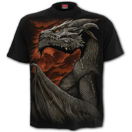 T-Shirt Spiral Direct Majestic Draco - tshirt SPIRAL DIRECT L043M101