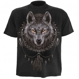 tshirt gothique spiral direct wolf dreams