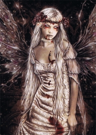 carte postale gothique victoria frances Dark Angel