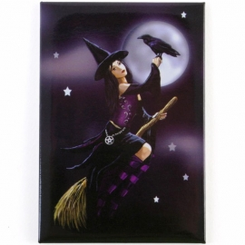 magnet gothique lisa parker Witch on Broom
