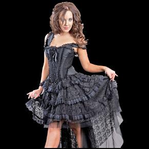 robe femme gothique. Black Bedroom Furniture Sets. Home Design Ideas